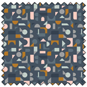 "Scattered Geo - NAVY - 44"" x 10 M"