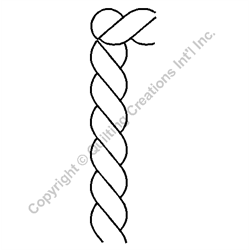 "Rope Border with Corner - 4"" Stencil x 3 UNITS"