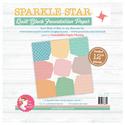 "Sparkle Star Quilt Block Foundation Paper - 12"""