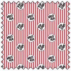 "Multi Pop Logo on Stripes -  44"" x 13.7 M"