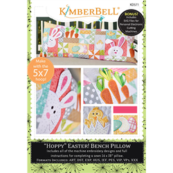 Hoppy Easter - Bench Pillow Machine Embroidery CD