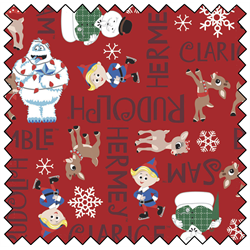 """Rudolph Character Names - RED - 44"""" x 13.7 M"""