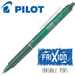 Frixion Clicker (.7) Heat Erase Pen - GREEN