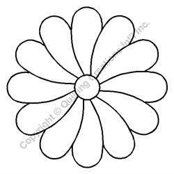 "Flower  -  4 1/2"" Stencil x 3 UNITS"