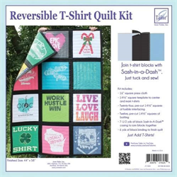Reversible T-Shirts Quilt Kit -- BLACK