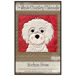 Bichon Precut Fused Appliqué Kit