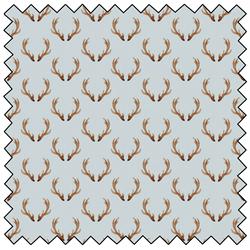 "Winter Woods Antlers  - AQUA -  44"" x 13.7 M"