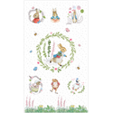 "Additional Images for Peter Rabbit Panel - 44"" x 10 PANEL"