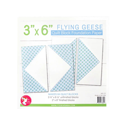 """Flying Geese Quilt Block Foundation Paper - 3"""" x 6"""""""