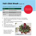 Additional Images for Fold'n Stitch Wreath Pattern