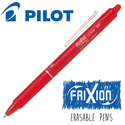 Frixion Clicker (.7) Heat Erase Pen - RED