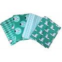 Additional Images for Peek-A-Boo! - GREEN - Fat Quarter Bundle (4)