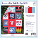 Additional Images for Reversible T-Shirts Quilt Kit -- RED