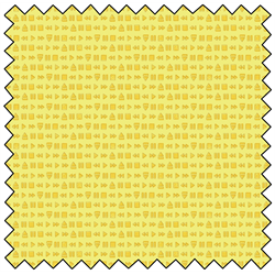 "Retro Blast Rewind - YELLOW -  44"" x 13.7 M"