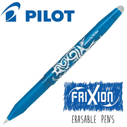 Frixion Pen Fine Point (.7 mm) Heat Erase - LIGHT BLUE