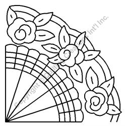 """Grandmother's Fan  Block - 8 1/2"""" Stencil x 3 UNITS"""