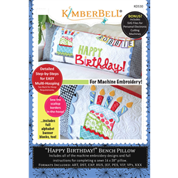 Happy Birthday! - Bench Pillow Machine Embroidery CD