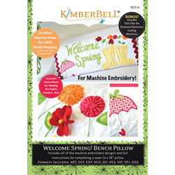 Welcome Spring - Bench Pillow Machine Embroidery CD