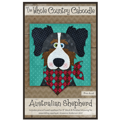 Australian Shepherd Precut Fused Appliqué Kit
