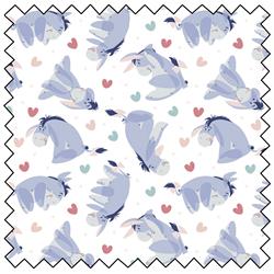 """Eeyore Heart Toss - WHITE - 44"""" x 13.7 M"""