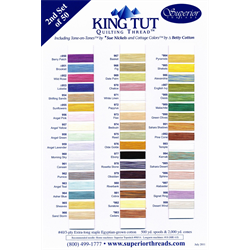 King Tut Quilting Thread Color Card #2