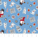 """Additional Images for Frosty Asset Toss - BLUE - 44"""" x 13.7 M"""