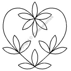 """Heart Petals Block - 7 1/2"""""""