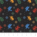 """Additional Images for Harry Potter Snowflake Houses - BLACK - 44"""" x 13.7 M"""