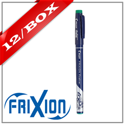 Frixion Fineliner Felt Marker - GREEN x 12 UNITS