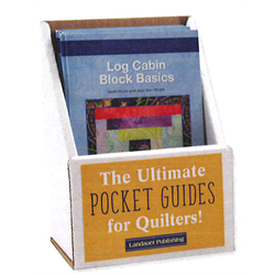 Log Cabin Block Basics Display with 6 Books