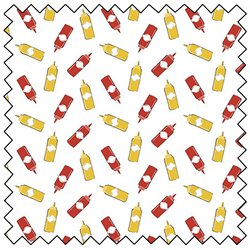 """Ketchup and Mustard - WHITE - 44"""" x 13.7 M"""