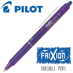 Frixion Clicker (.7) Heat Erase Pen - PURPLE