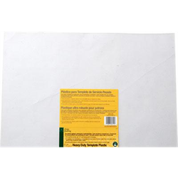 "Heavy Duty Template Plastic - 12"" x 18"""