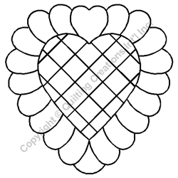 """Feathered Heart Block - 6"""" Stencil x 3 UNITS"""