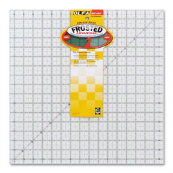 Frosted Acrylic Olfa Ruler 16.5 x 16.5 - The Workhorse