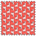 Additional Images for Peek-A-Boo! - CORAL - Fat Quarter Bundle (3)