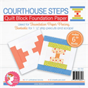 """Courthouse Steps Quilt Block Foundation Paper - 6"""""""