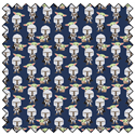 """Additional Images for Mando Hello Friend - NAVY  -  44"""" x 13.7 M"""