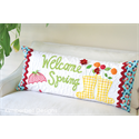 Additional Images for Welcome Spring - Bench Pillow Machine Embroidery CD