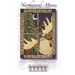 Northwoods Moose  Window Pane Pattern