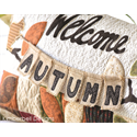 Additional Images for Welcome Autumn - Bench Pillow Machine Embroidery CD