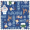 """Additional Images for Rudolph Character Names - NAVY - 44"""" x 13.7 M"""