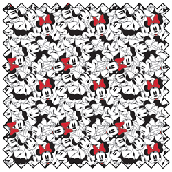 "Minnie Tossed Stack - WHITE - 44"" x 13.7 M"