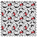 """Additional Images for Minnie Tossed Stack - WHITE - 44"""" x 13.7 M"""