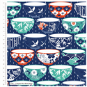 """Additional Images for Kyoto Rice Bowl - NAVY - 44"""" x 10 M"""