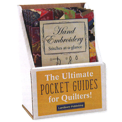 Hand Embroidery Stitches At-A-Glance Display with 6 Books
