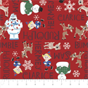 """Additional Images for Rudolph Character Names - RED - 44"""" x 13.7 M"""