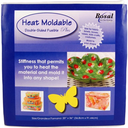 "Heat Moldable Plus Double-Sided Fusible - Size 20"" x 36"""