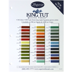 King Tut Quilting Thread Color Card #3