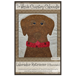 Labrador Retriever (Chocolate) Precut Fused Appliqué Kit